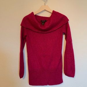White House Black Market cowl neck pink sweater